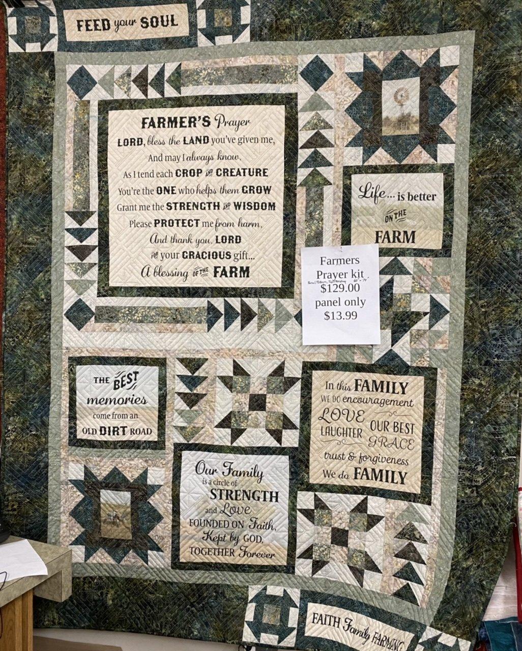 Farmer's Prayer quilt kit