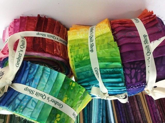 40 Batik Jelly Roll Strips