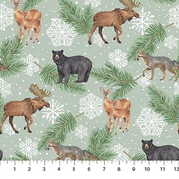 Frosted Forest F24301-72 Sage Multi