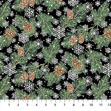 Frosted Forest F24302-99 Black Multi