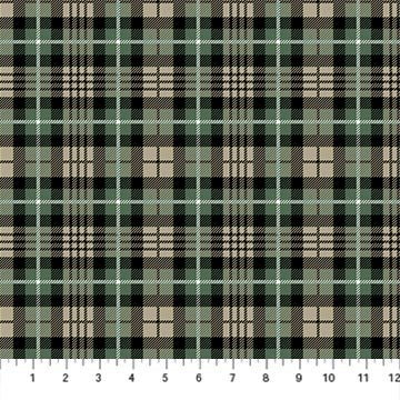 Frosted Forest F24305-99 Black Dark Plaid