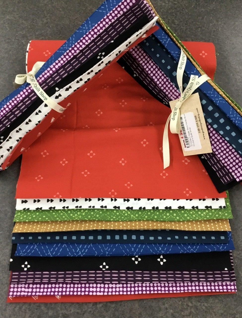10 Modern Batik Third Yards Bundle