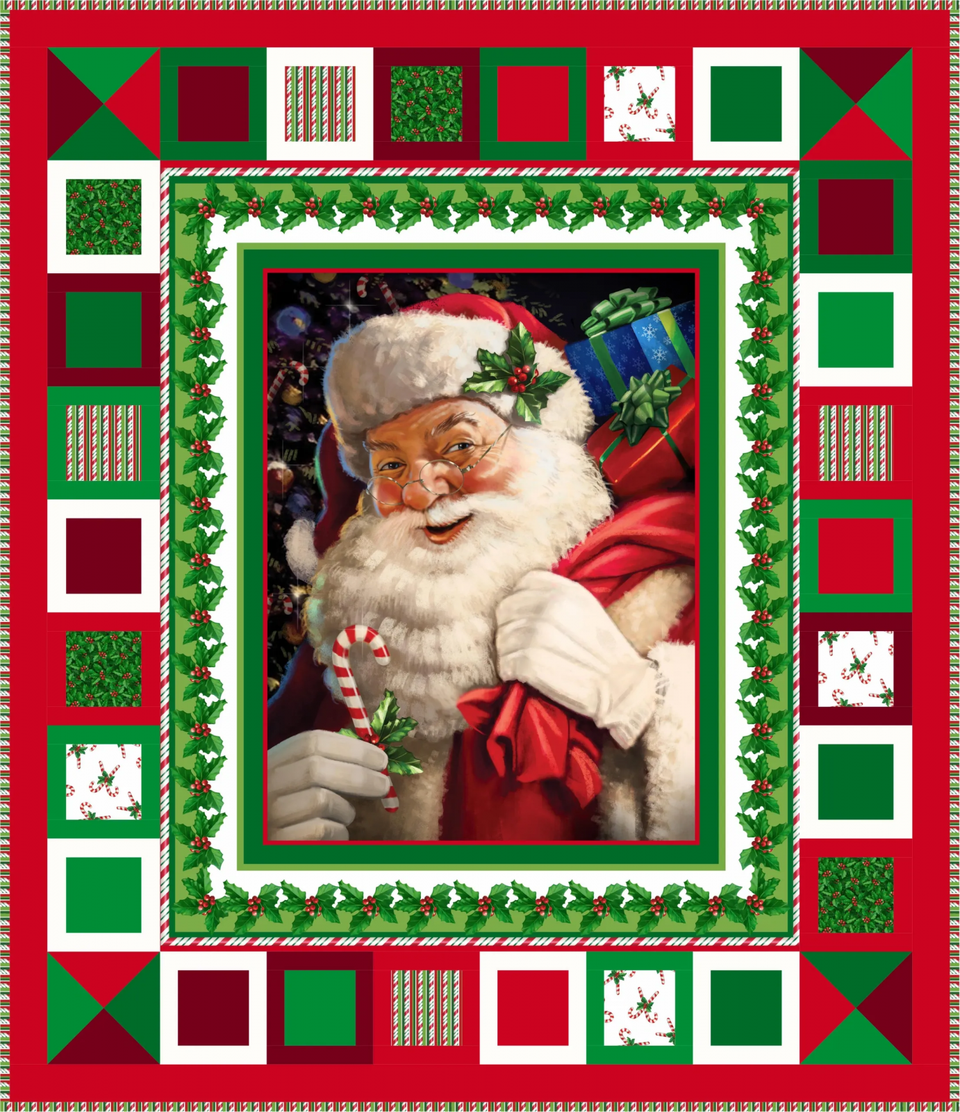 Holly Jolly pattern by Quilting on the Curve