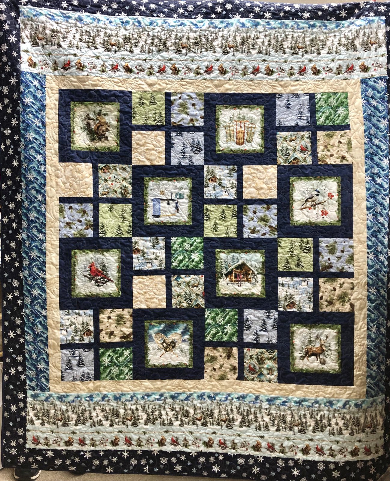Wrapped in Blue - Quilt MN 2021 68.5 x 80.5