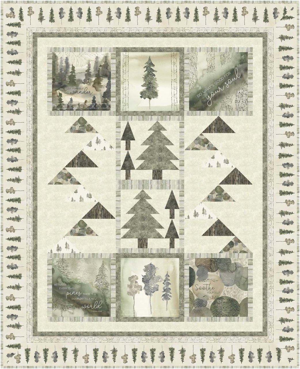 Forest Retreat 60x74 Quilt Kit
