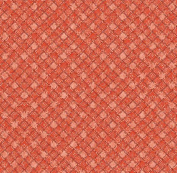 Quilt MN 2020 Y3024-40 Diagonal Plaid Dark Coral