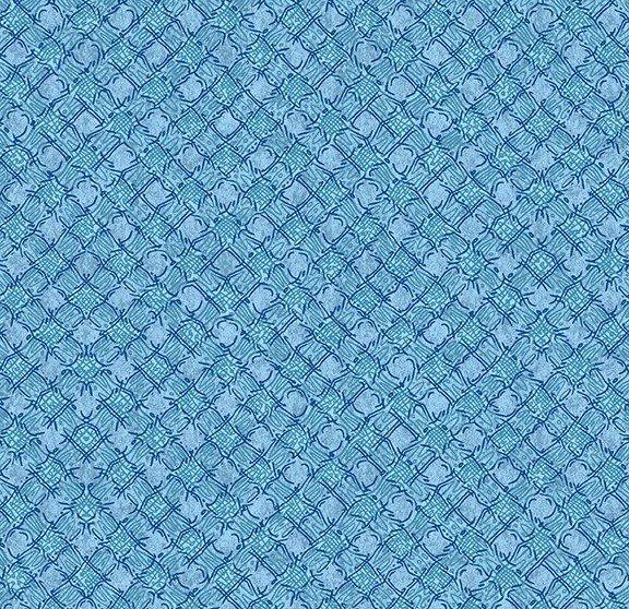 Quilt MN 2020 Y3024-97 Diagonal Plaid Light Sky