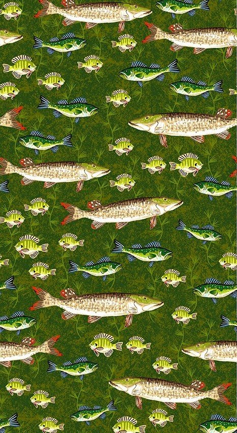 Quilt MN 2020 Y3019-112 Muskie Light Forest