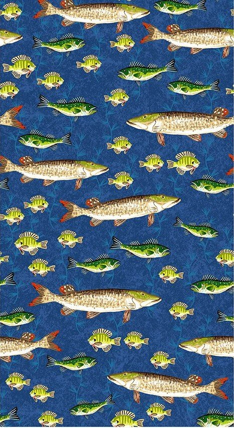 Quilt MN 2020 Y3019-31 Muskie Royal Blue