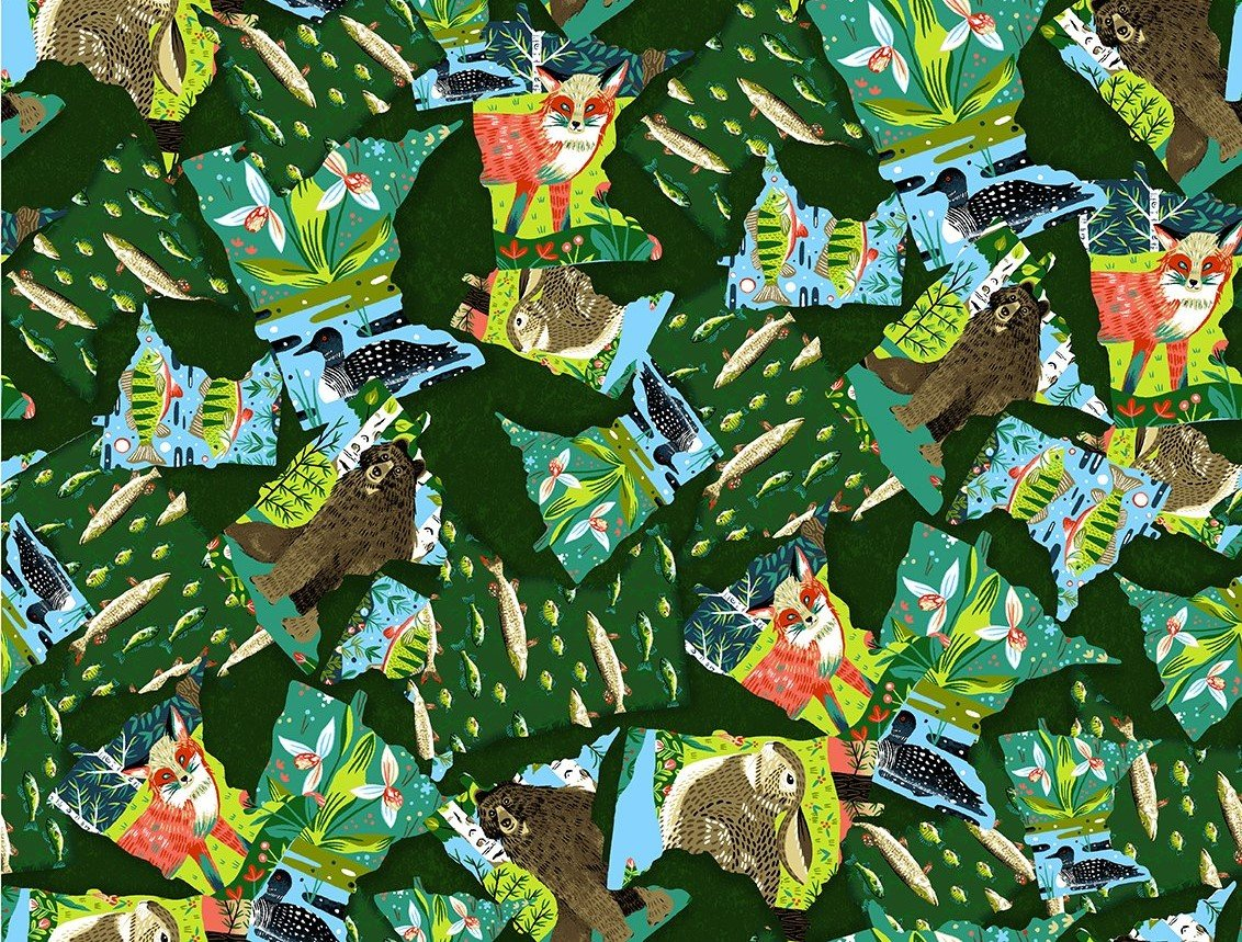 Quilt MN 2020 Y3017-113 State Collage Forest