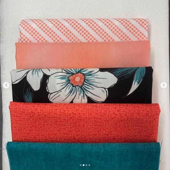 Deco kit Blue/Orange Floral 45x50