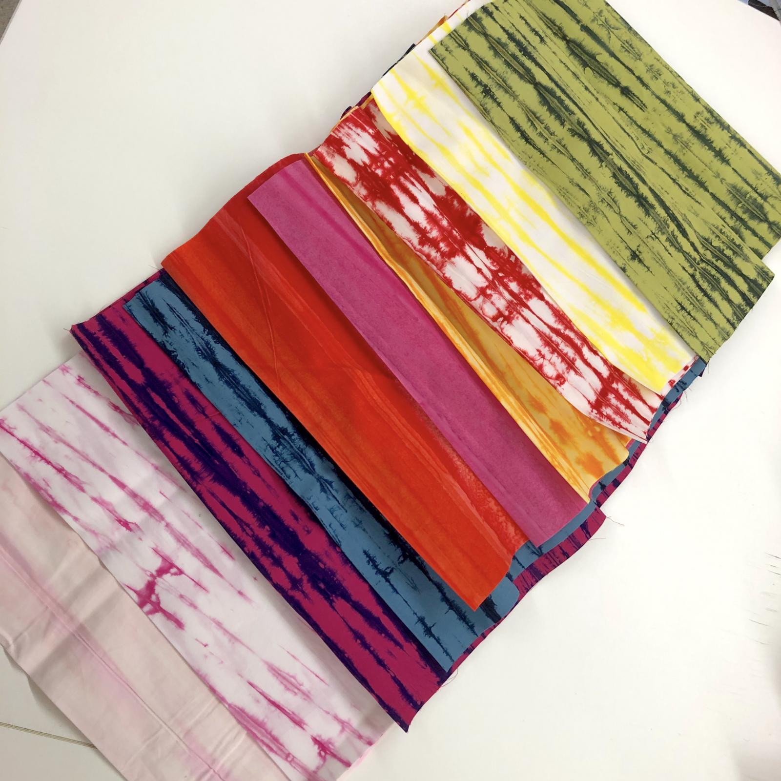 10 Shibori Stripe Batik Third Yards Bundle