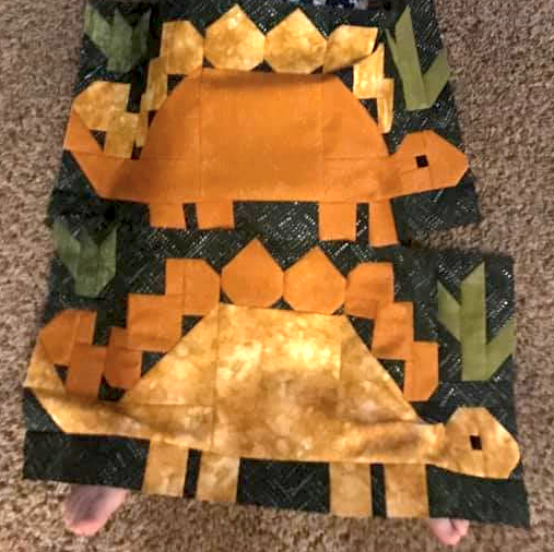 Dinosaurs Quilt Kit 48 x 48 (more dinos included!)