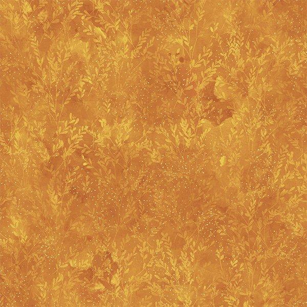 Autumn is in the Air 4856-624G Gold Ochre Gold Metallic