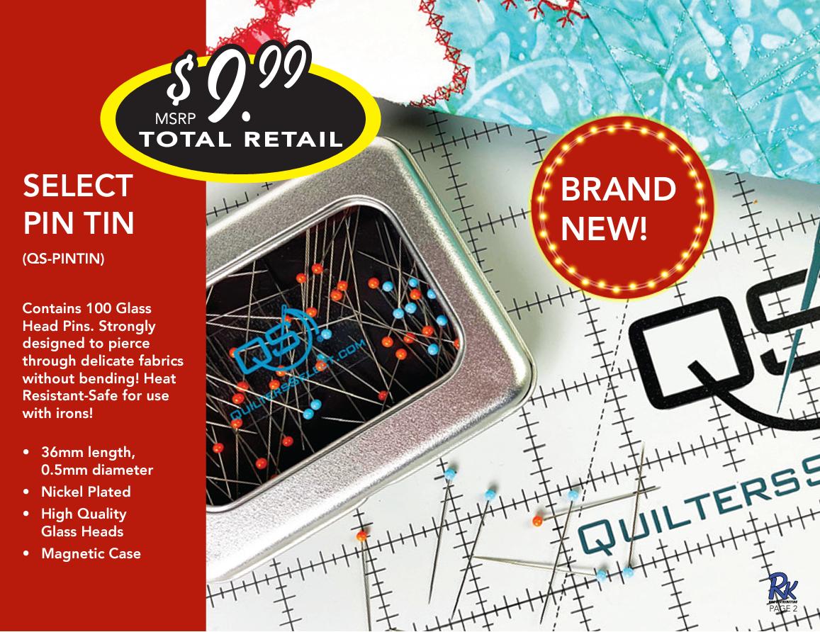 Quilter's Select Pin Tin