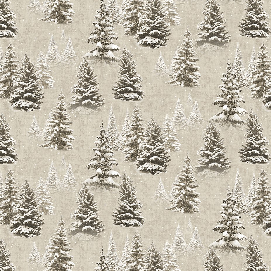 Y3315-12 Quilt MN 2021Trees Khaki