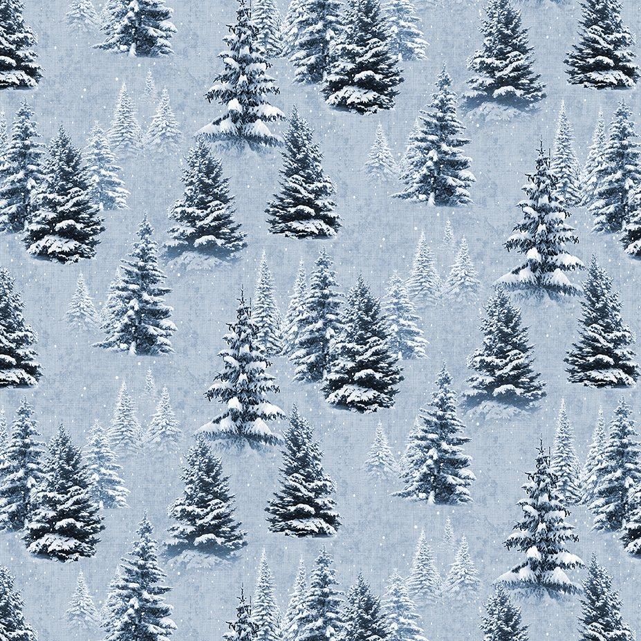 Y3315-87 Quilt MN 2021 Trees Lt Denim
