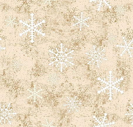 Y3321-64 Quilt MN 2021 Snowflakes Caramel