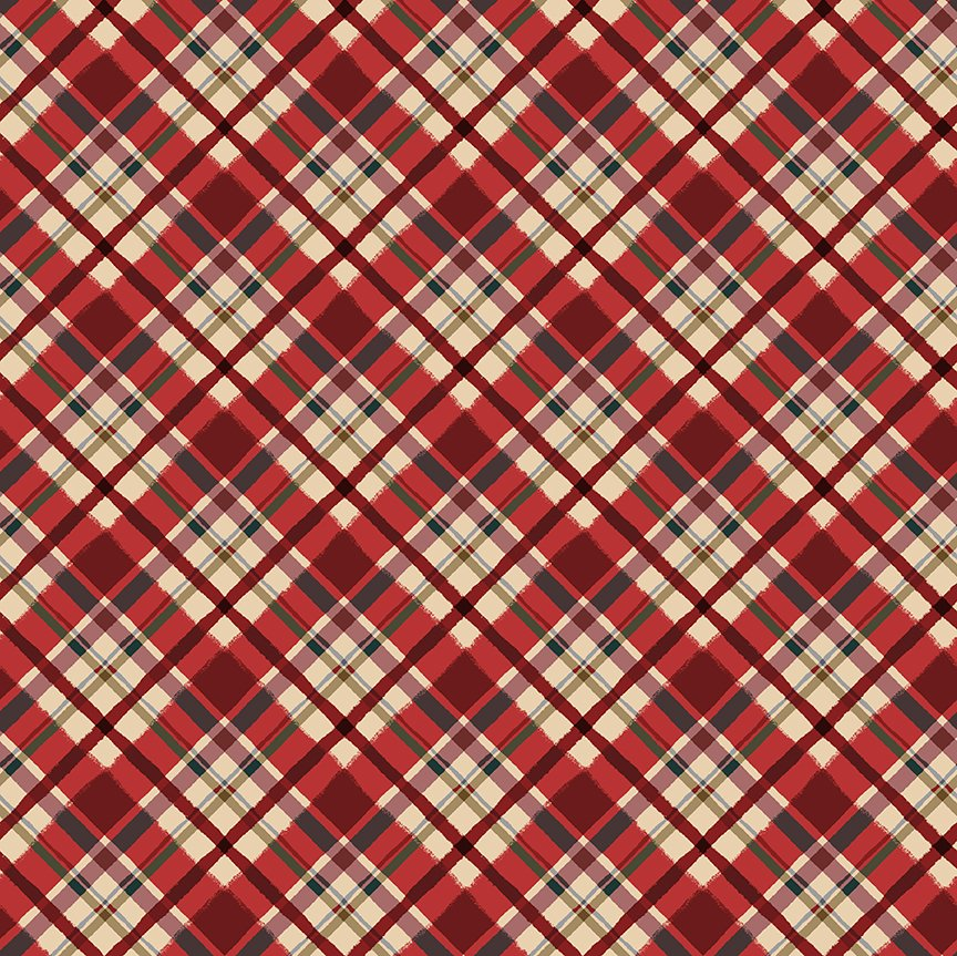 Y3322-4 Quilt MN 2021 Plaid Red