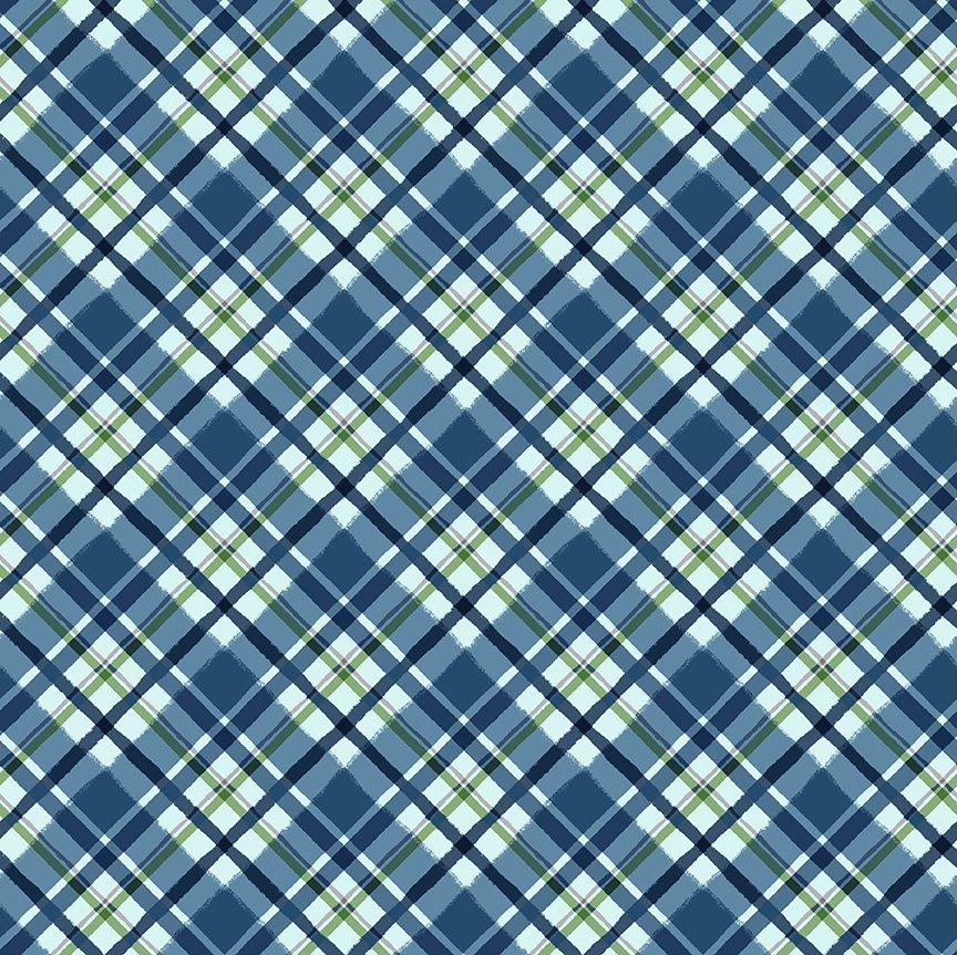 Y3322-90 Quilt MN 2021 Plaid Blue