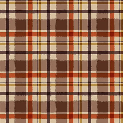 Y3324-66 Quilt MN 2021 Brown Plaid Flannel