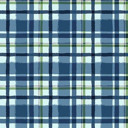Y3324-90 Quilt MN 2021 Blue Flannel Plaid