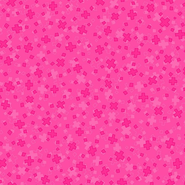 Hopscotch Overlapping Squares - Hot Pink