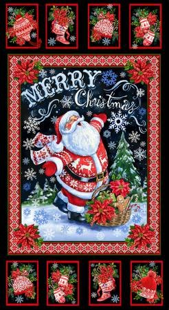 C6067  Merry Christmas Santa Panel