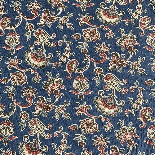 Blue Paisley Floral