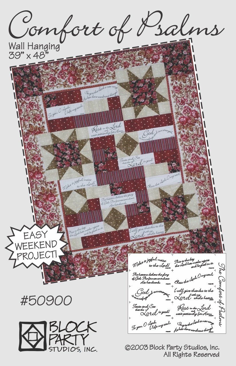 Comfort of Psalms Quilt Pattern with Panel