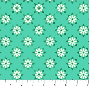 True Kisses Darling Turquoise by Heather Bailey for FIGO