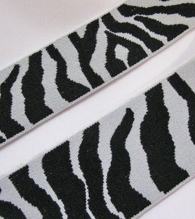 Farmhouse Fabrics/Zebra Decorative Elastic 1 1/2