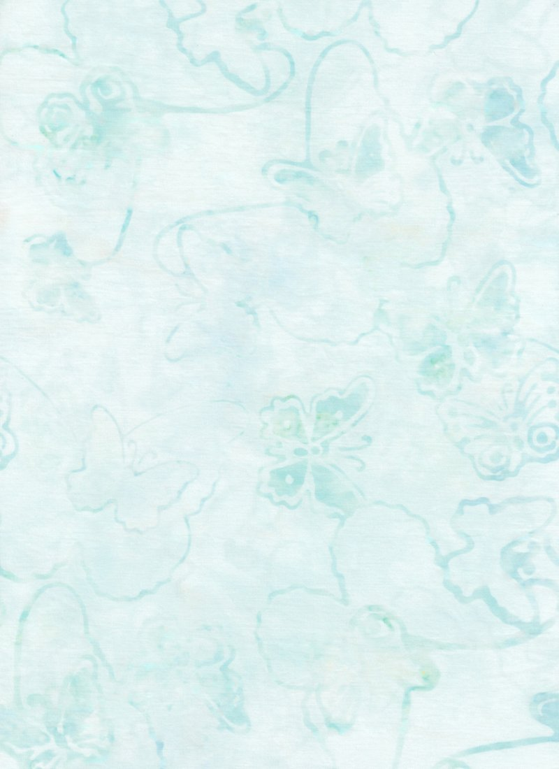 Anthology 16201Q-X Pale aqua gray butterflies