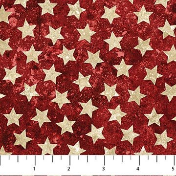 Stars and Stripes Red with Stars by Northcott