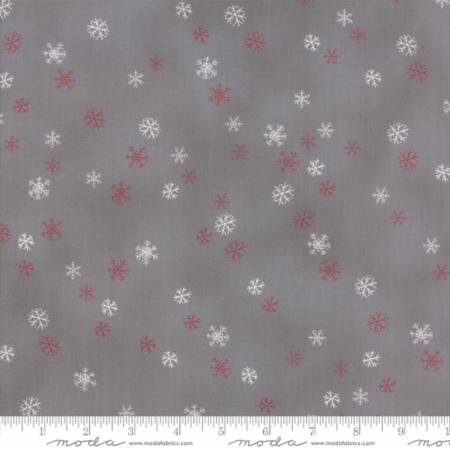 Sno SnowFlake 39725 16 Gray and Red by Wenche Wolff Hatling for Moda