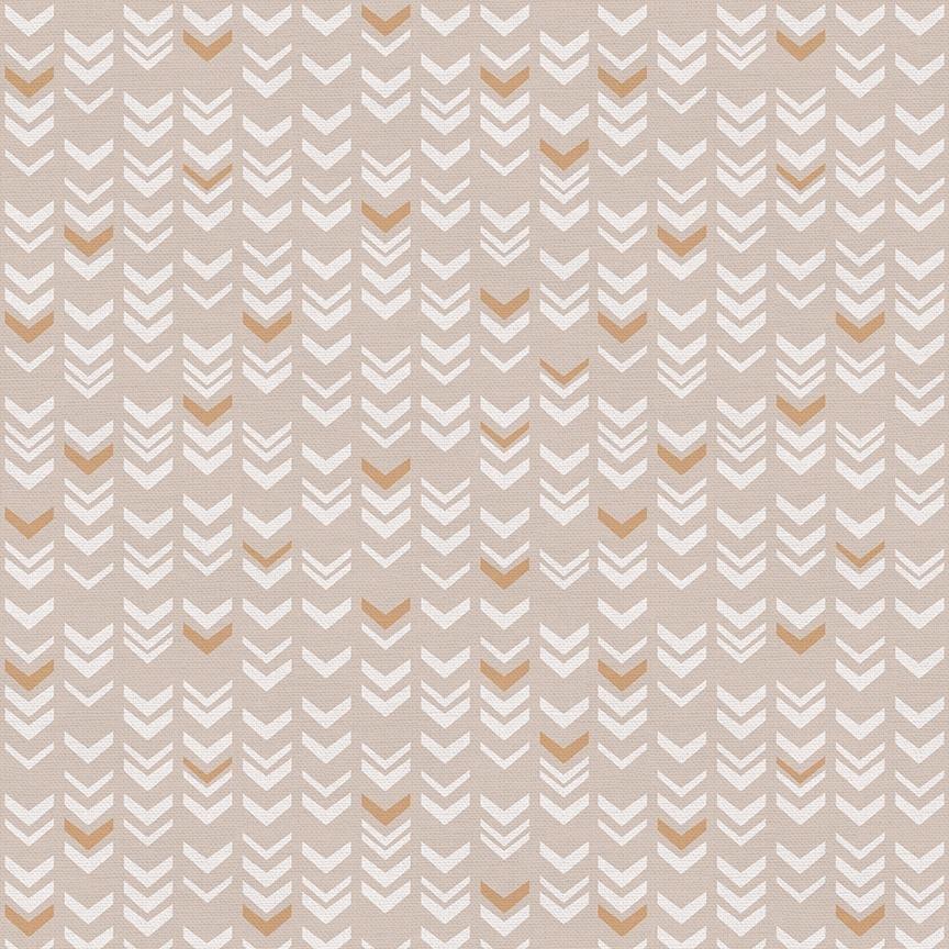 Jungle Baby Arrow Stripe Tan by Lisa Whitebutton for Paintbrush Studio