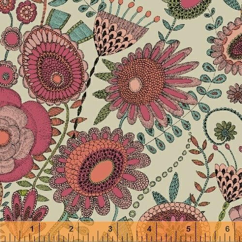 Fantasy Wild Garden Pink by Sally Kelly for Windham