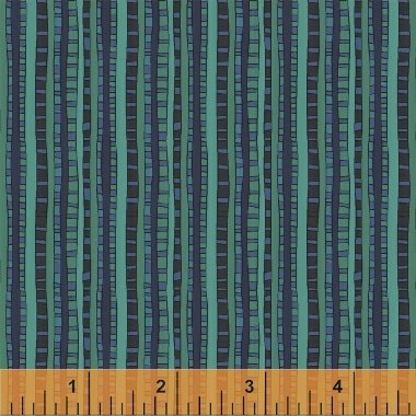 Fantasy Ladder Stripe Blue by Sally Kelly for Windham