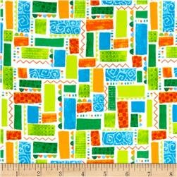 Exclusively Quilters/Dino-Myte Flannel/61301-7 Block & Squares
