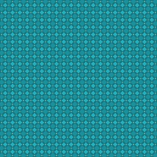 Thankful Checkerboard Teal by Amanda Murphy for Benartex
