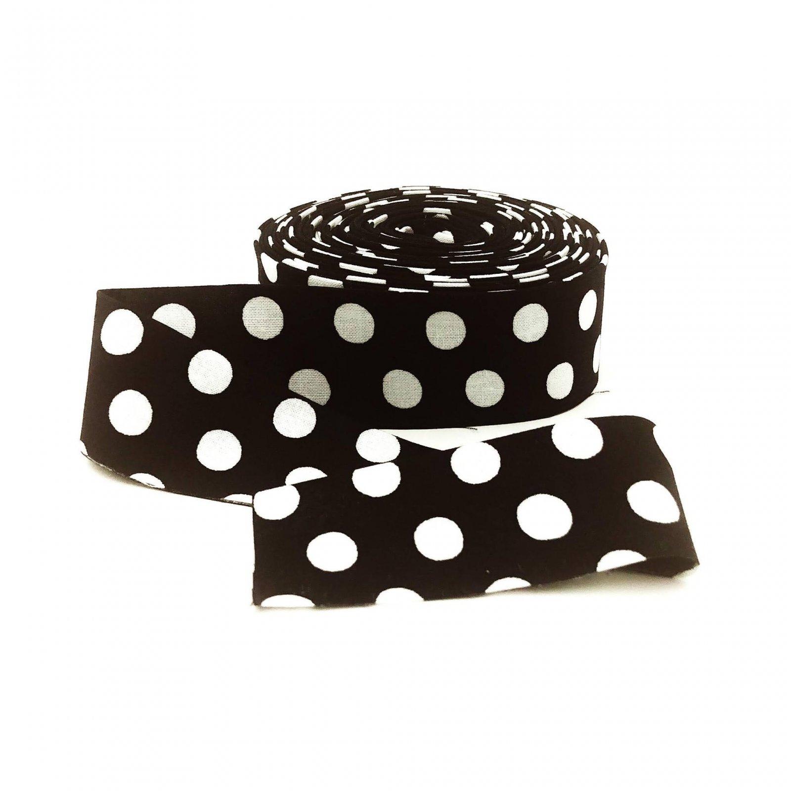 Binding Spots Black by Kaffe Fassett