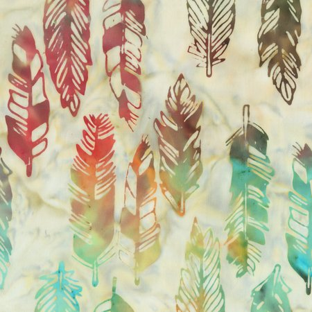 Anthology Southwest 943Q-1 Multi color feather batik