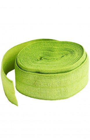 3/4 fold over Elastic Apple Green 2 yards