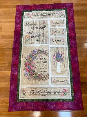 Be Thankful Wall Hanging 32 x 52