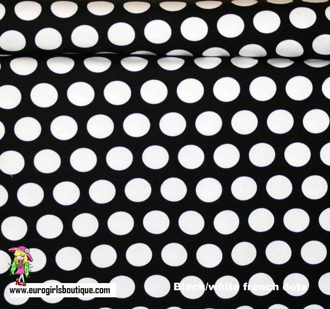 Euro Black w/large White Dots