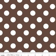 Riley Blake/Medium Dots/C360-90 Brown