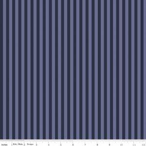Riley Blake/Americana Stripe Navy/C5983