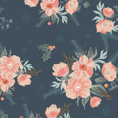 Frosted Roses Midnight Cozy & Magical by Maureen Cracknell for AGF