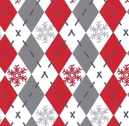 Michael Miller/Woodland Winter/CX7499-SANT-D Argyle Sweater