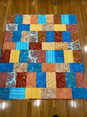 Desert Sunset Batik Quilt 52x58